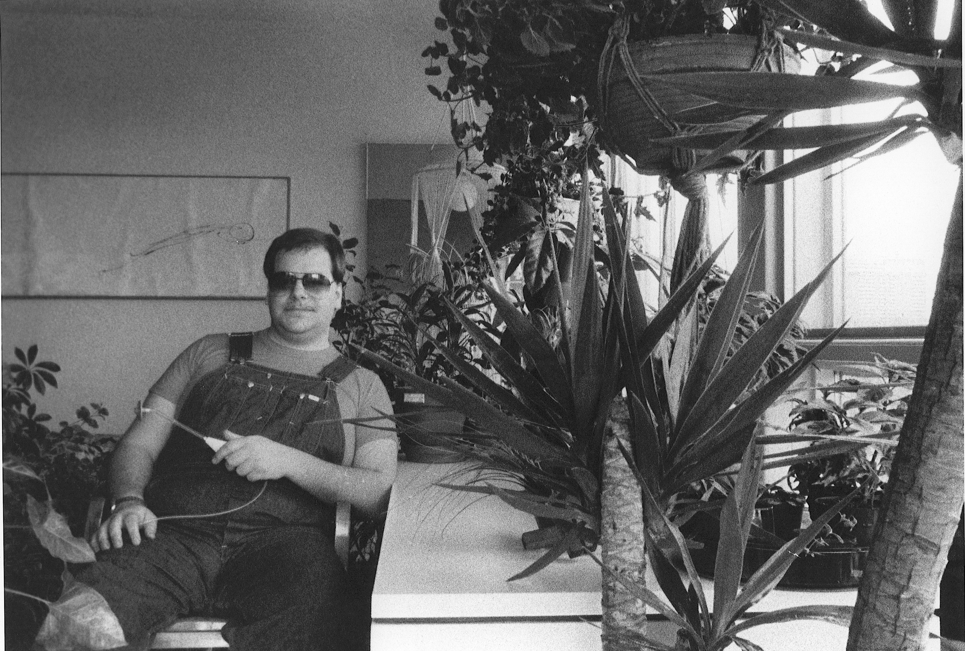 [ Fig. 01 ] Marc Paradis at home, 198?.