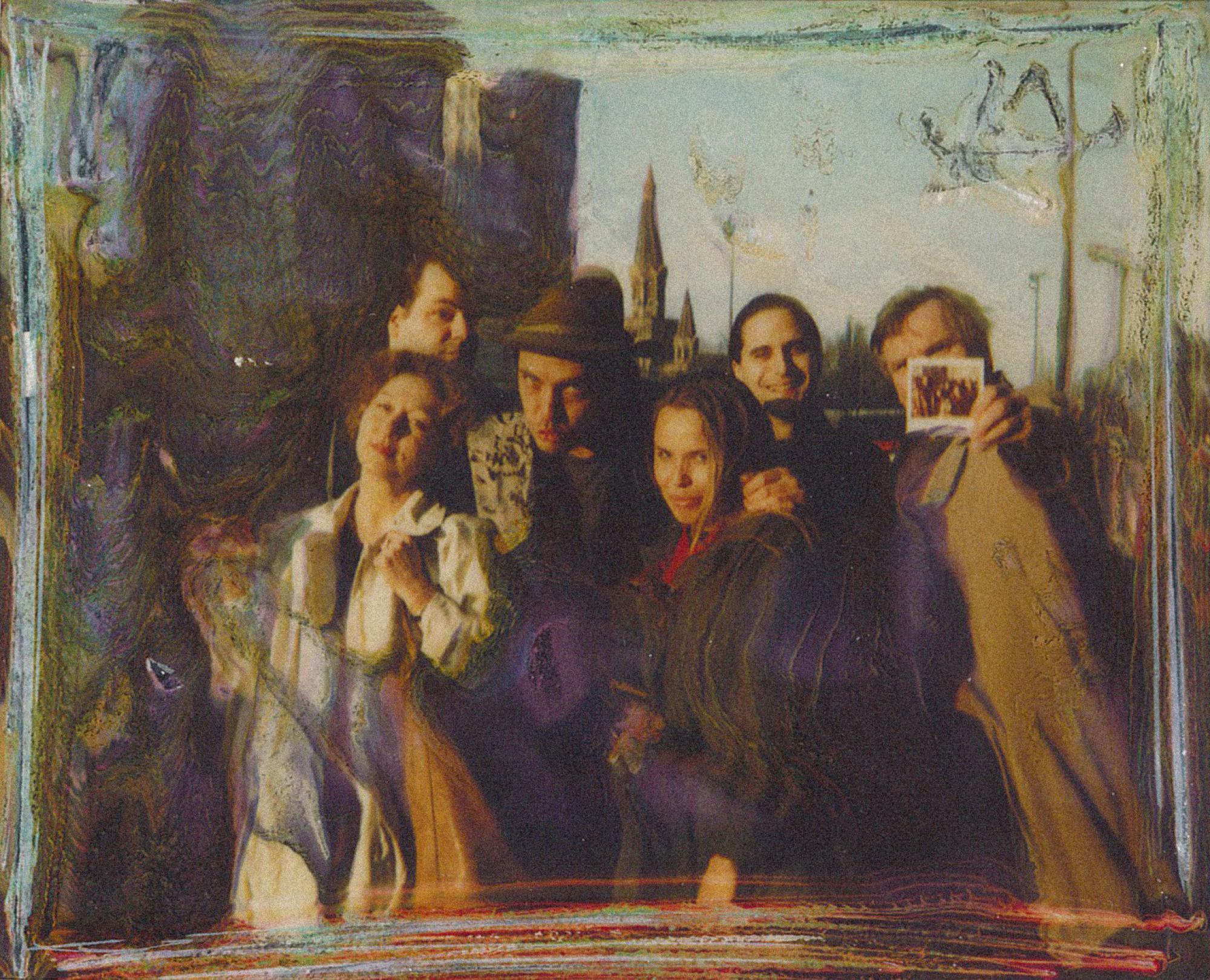 [ Fig. 07 ] Marc Paradis, Simon B. Robert, Katherine Liberovskaya and Jozef Robakowski (polaroid), Poland, 198?.