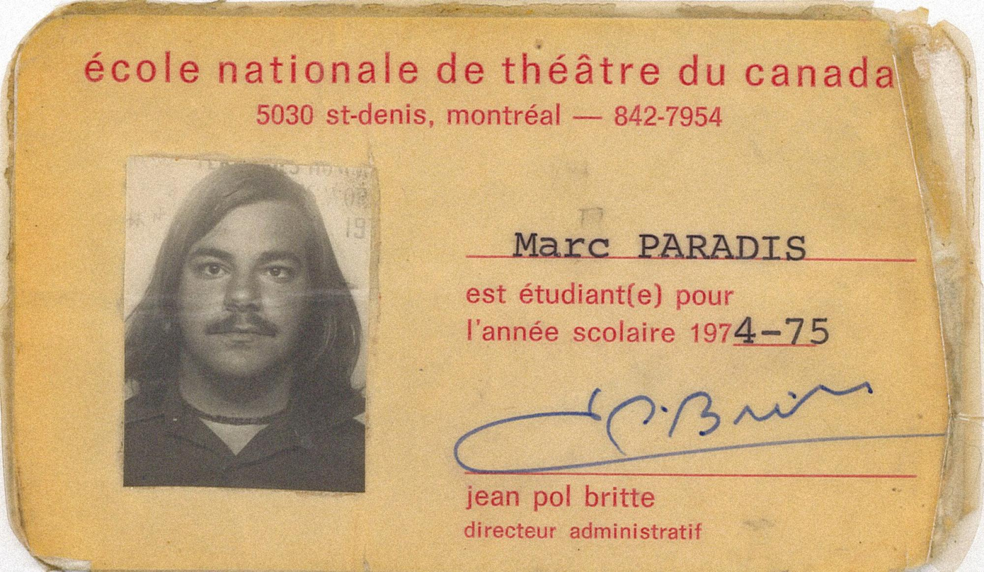 [ Fig. 06 ] Student card, 1974