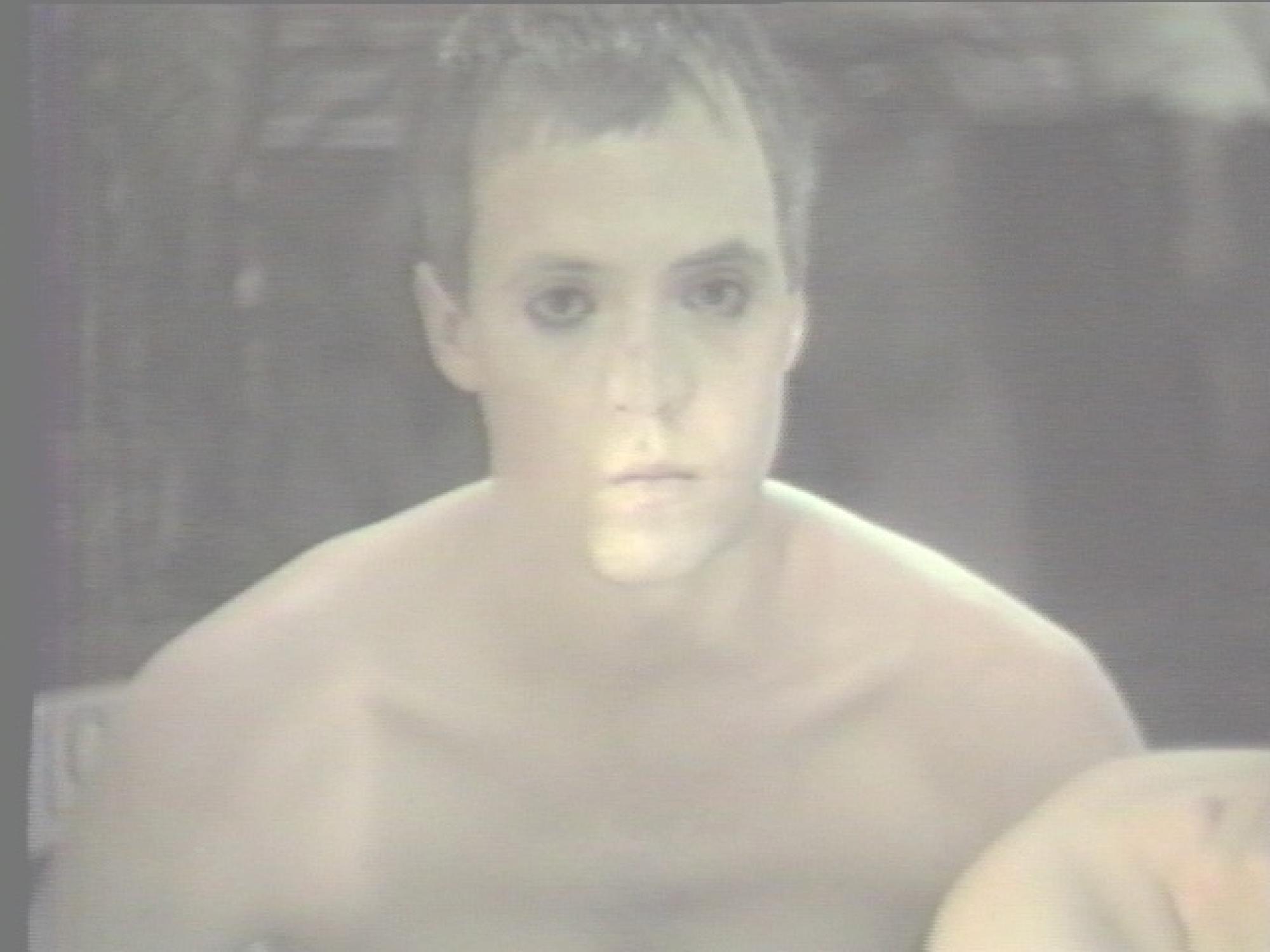 [ Fig. 07 ] <i>Deliver Us from Evil</i> (video still), 1987.