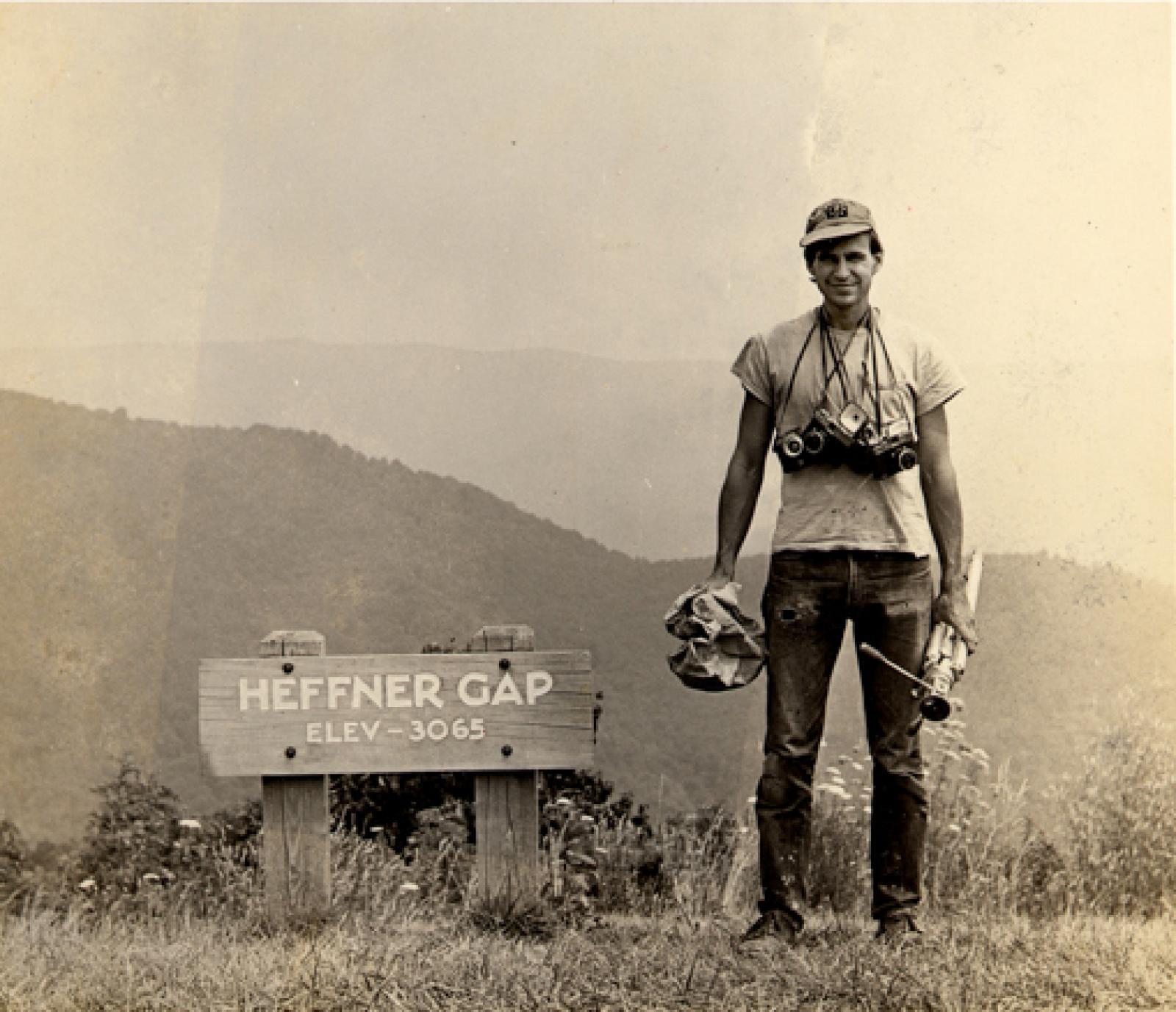 [ Fig. 02 ] Photograph of Donigan Cumming at Heffner Gap, North Carolina. Around: 1968. Photo: Robert Forsythe.