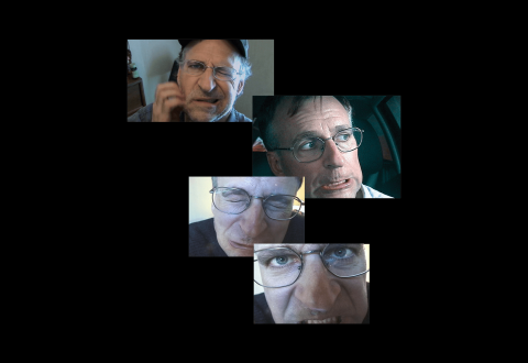 [ Fig. 01] Video stills from top to bottom  <i>Exit Interview</i>, 2014, <i>Fountain</i>, 2005, <i>Docu-Duster</i>, 2000.